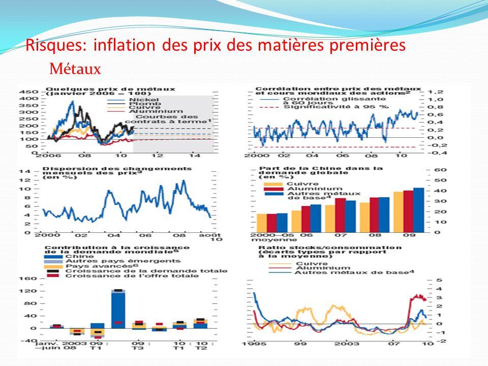 Risques: inflation des prix des matières premières Métaux