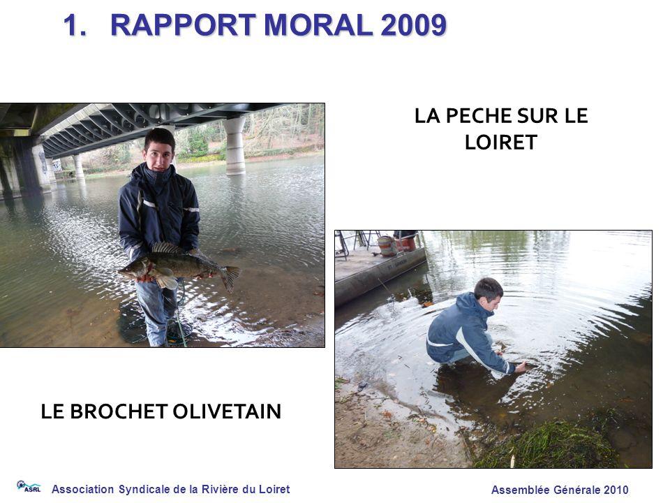 Association Syndicale de la Rivière du Loiret Assemblée Générale 2010 LE BROCHET OLIVETAIN 1. RAPPORT MORAL 2009 LA PECHE SUR LE LOIRET
