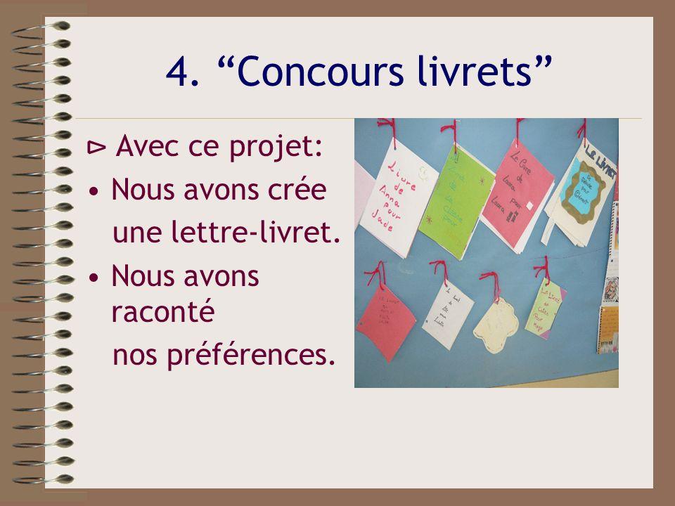 4.Concours livrets Nous avons des amis francophones.