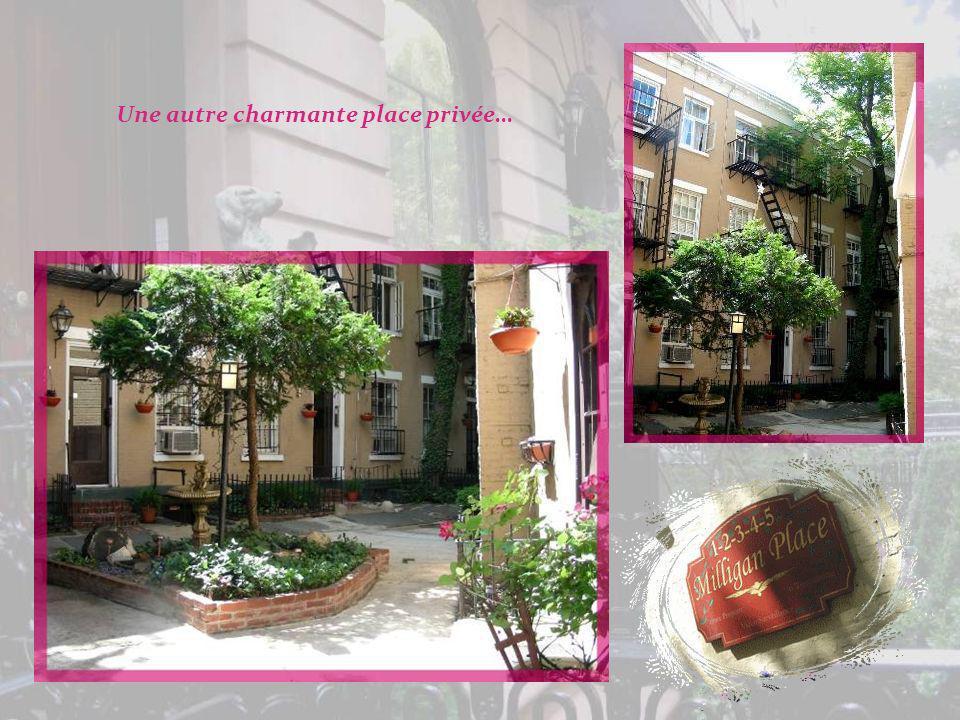 On peut aussi observer des petites places privées dont laccès est réservé aux résidents. Sur celle-ci subsistent des maisons du XIXe siècle conservées