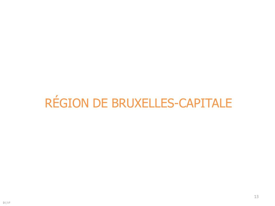 13 EK/XF RÉGION DE BRUXELLES-CAPITALE