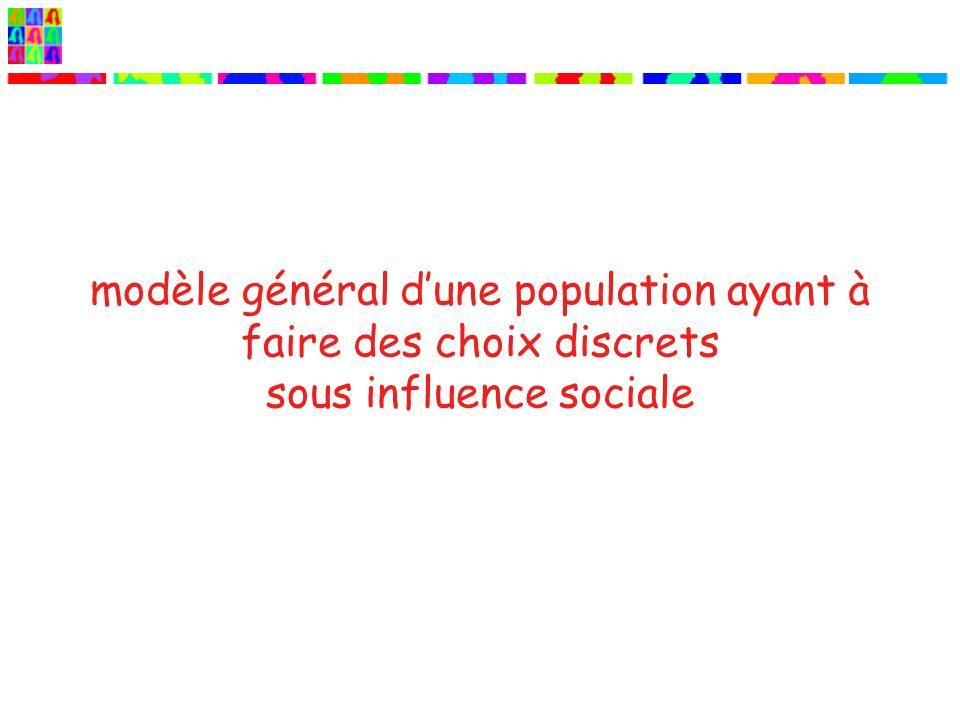 modèle général dune population ayant à faire des choix discrets sous influence sociale