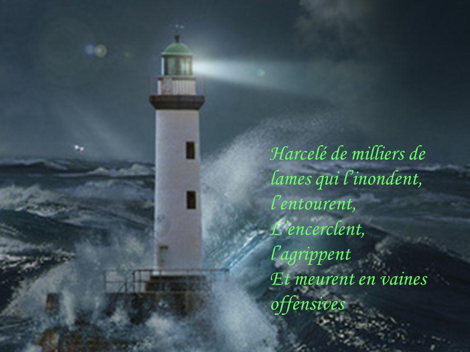 , Pauvre marin luttant contre : vague et orages, Il vous reste « un ami » un guide sur la terre Debout sur les rochers, tout au bord du rivage, Un ang