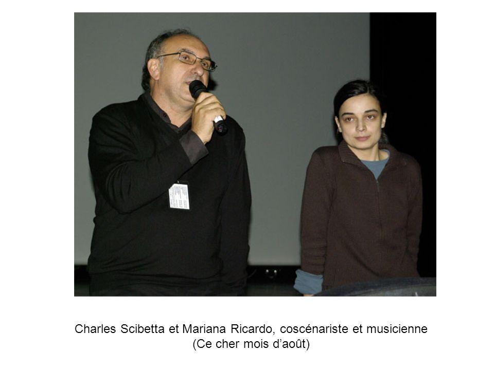 Charles Scibetta et Mariana Ricardo, coscénariste et musicienne (Ce cher mois daoût)