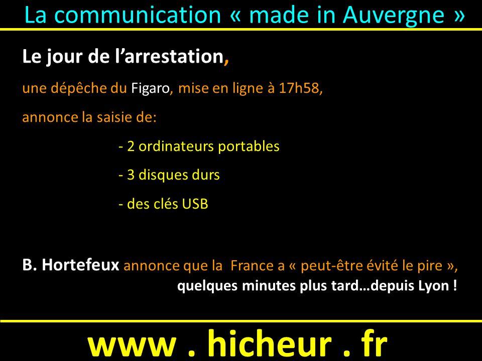 www. hicheur. fr Linstruction = Laccusation…