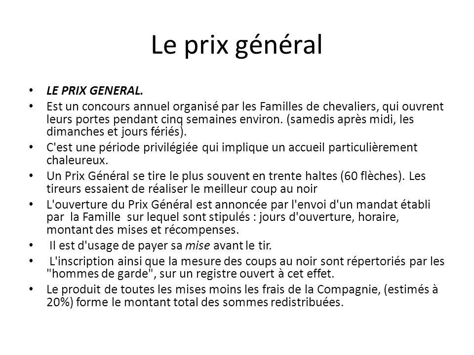 Le prix général LE PRIX GENERAL.