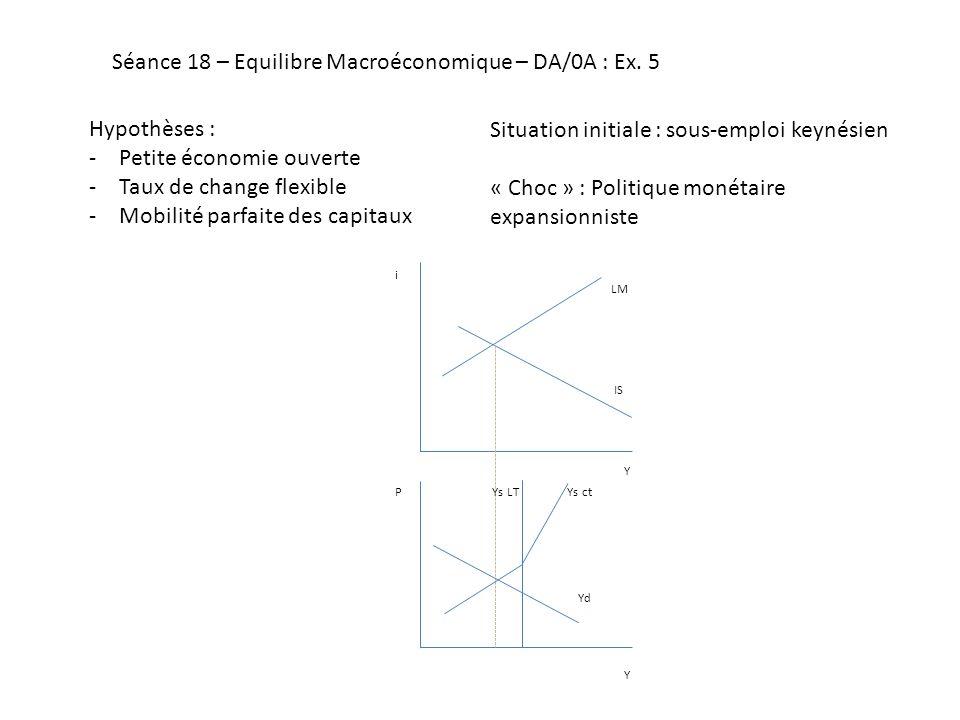 Séance 18 – Equilibre Macroéconomique – DA/0A : Ex.