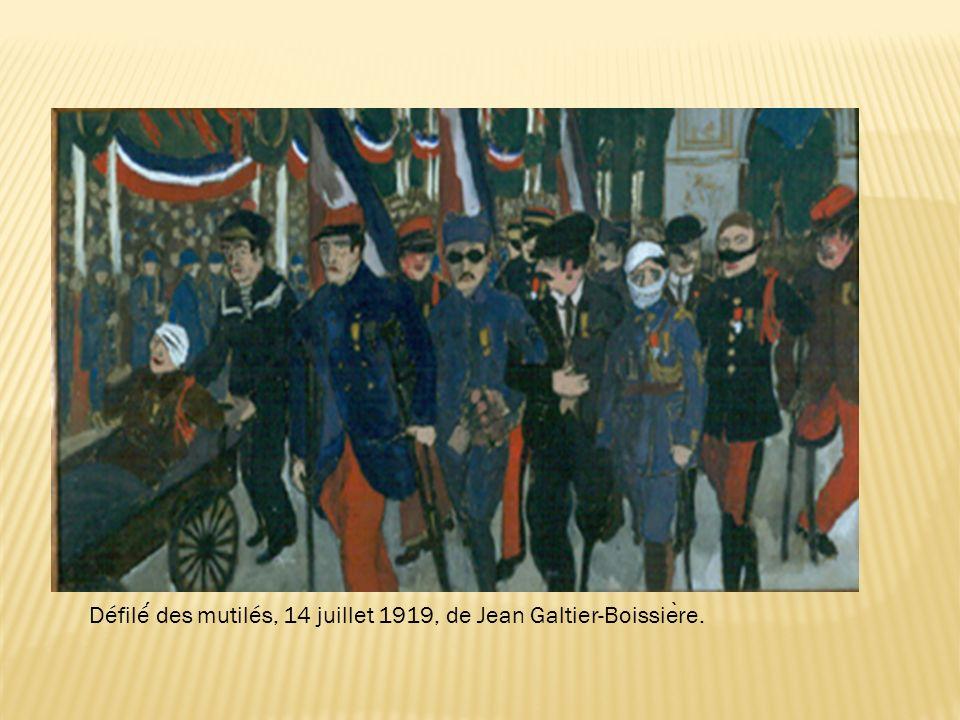 Défilé des mutilés, 14 juillet 1919, de Jean Galtier-Boissie ̀ re.
