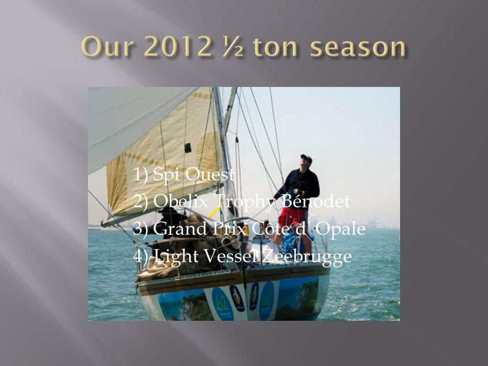 1) Spi Ouest 2) Obelix Trophy Bénodet 3) Grand Prix Côte d' Opale 4) Light Vessel Zeebrugge
