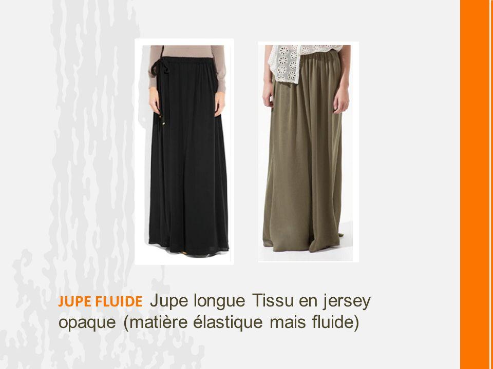 JUPE FLUIDE Jupe longue Tissu en jersey opaque (matière élastique mais fluide)