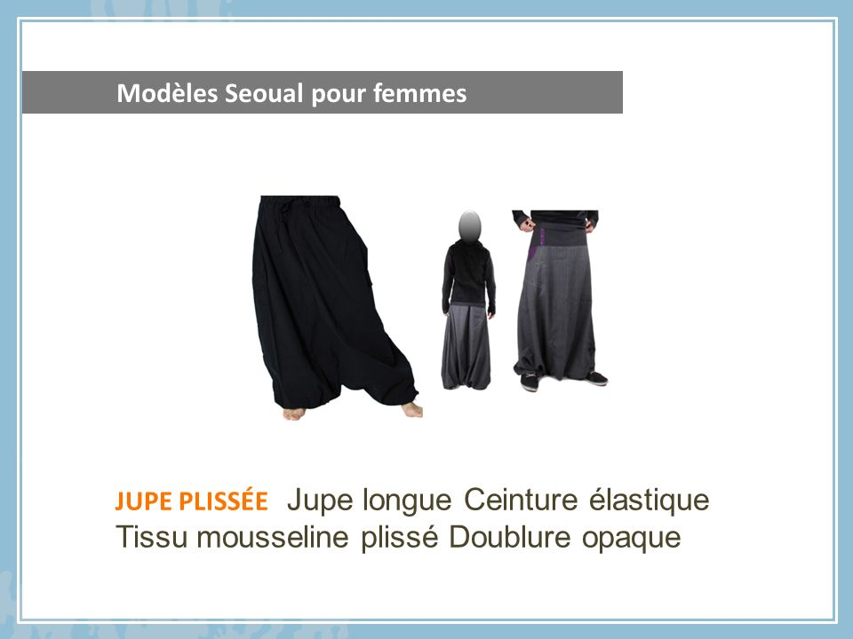 JUPE PLISSÉE Jupe longue Ceinture élastique Tissu mousseline plissé Doublure opaque Modèles Seoual pour femmes