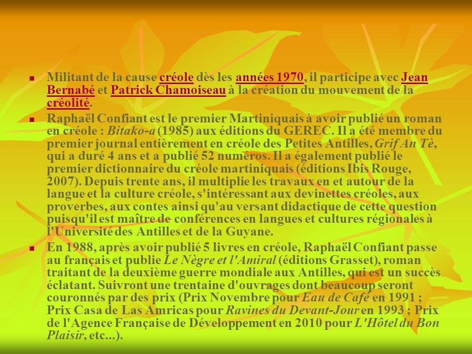 Militant de la cause créole dès les années 1970, il participe avec Jean Bernabé et Patrick Chamoiseau à la création du mouvement de la créolité. Rapha