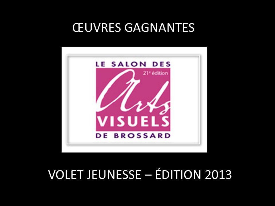 ŒUVRES GAGNANTES VOLET JEUNESSE – ÉDITION 2013
