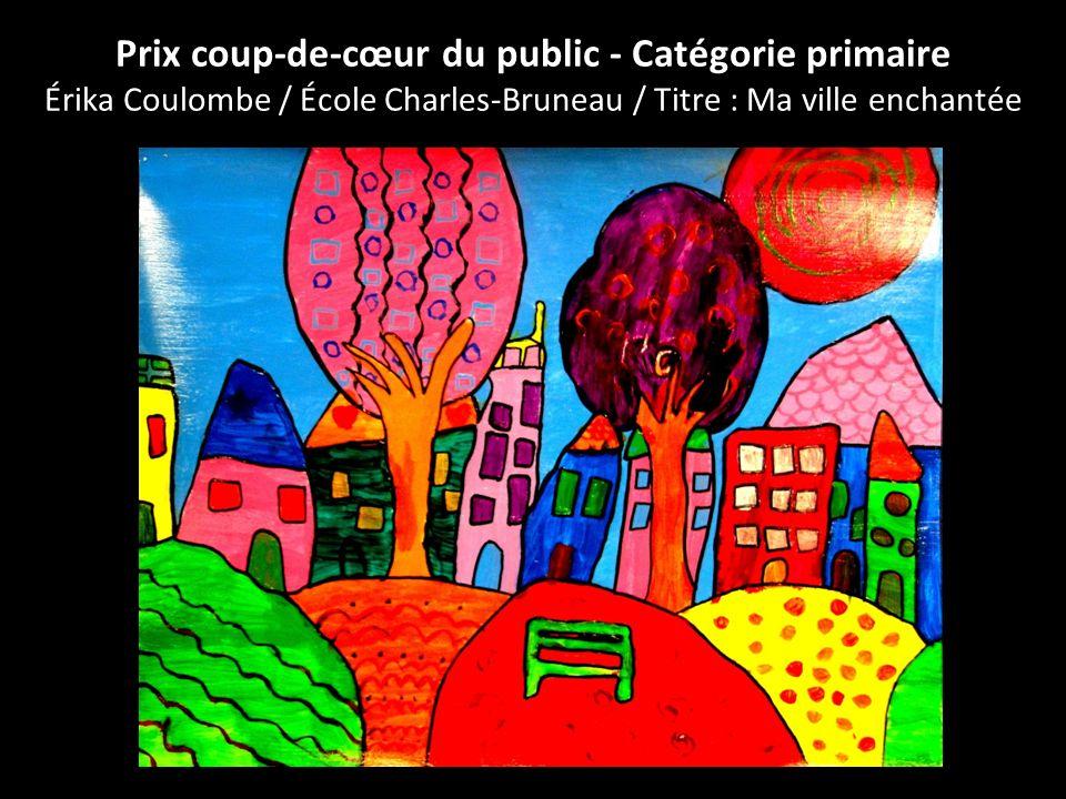 Prix coup-de-cœur du public - Catégorie primaire Érika Coulombe / École Charles-Bruneau / Titre : Ma ville enchantée