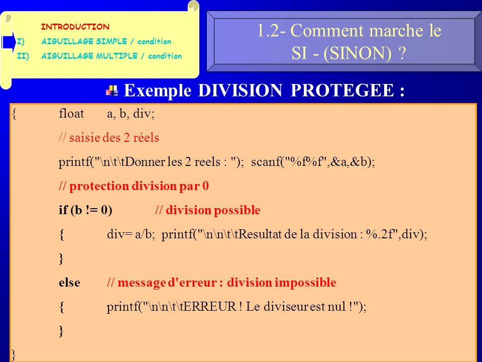 34 1.2- Comment marche le SI - (SINON) .