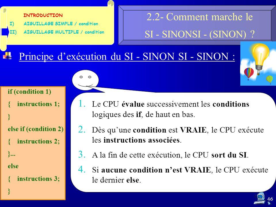 46 2.2- Comment marche le SI - SINONSI - (SINON) .