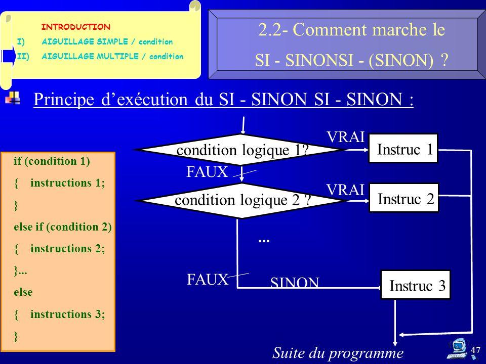 47 2.2- Comment marche le SI - SINONSI - (SINON) .