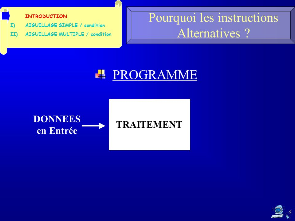 36 1- Déclaration variables Réservation mémoire InstructionProcesseurMémoire Simulation dexécution du programme de Division protégée a &a 5.0 b &b 2.0 2- Saisies attente, conversion, affectation 3- if Evaluation (b 0.): VRAI 4- { resu= a/b - calcul: 5./2.
