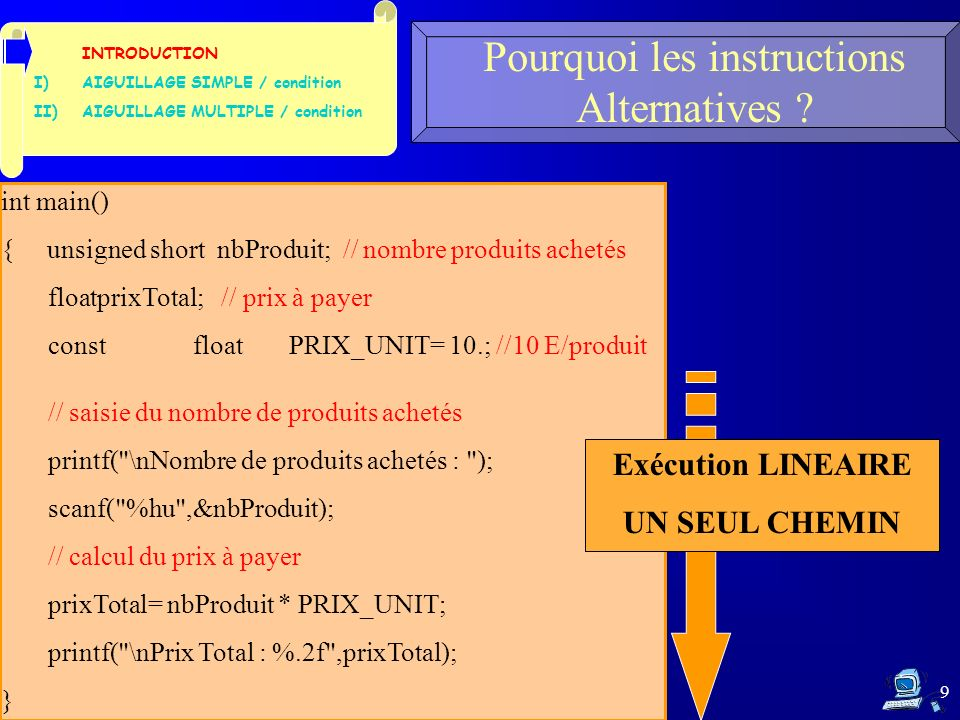 10 Pourquoi les instructions Alternatives .