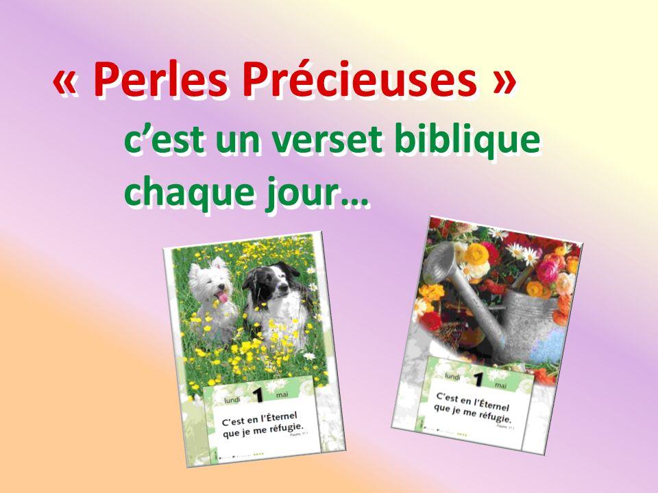 « Perles Précieuses » cest un verset biblique chaque jour…