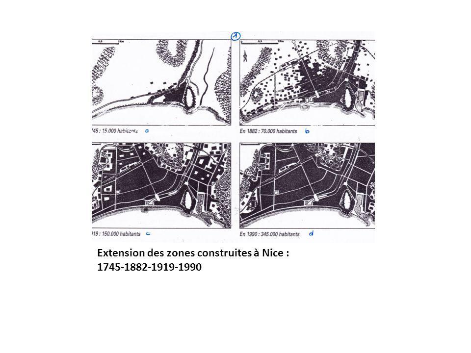 Louest de Nice en 1946 et 1983 photographies aériennes IGN