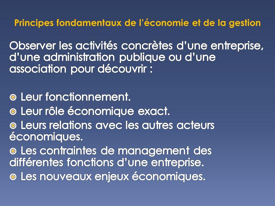 Principes fondamentaux de léconomie et de la gestion