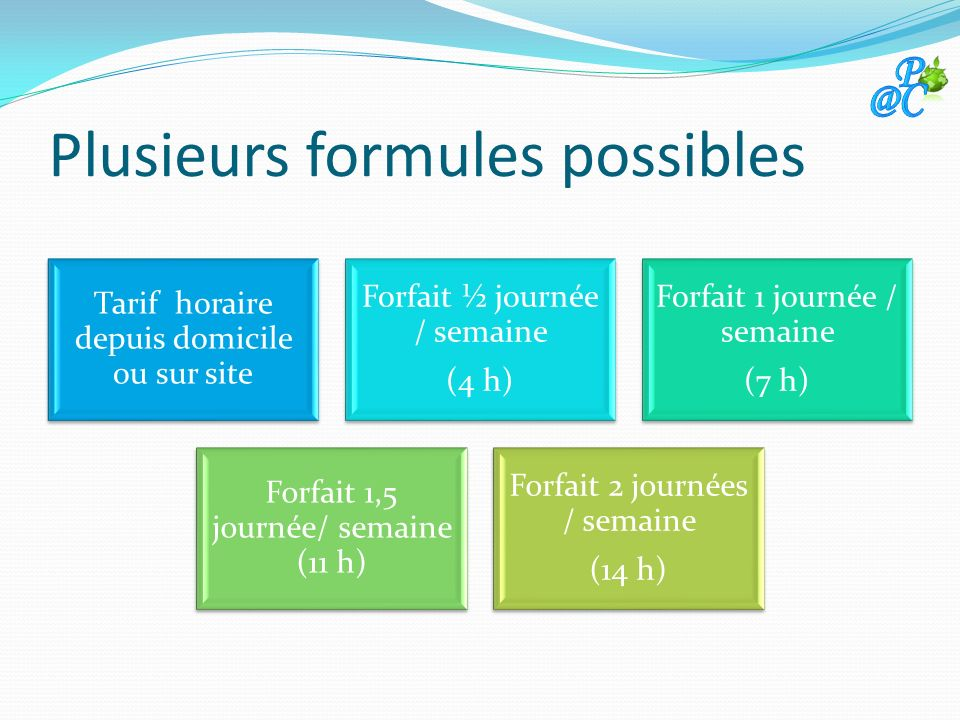 Plusieurs formules possibles