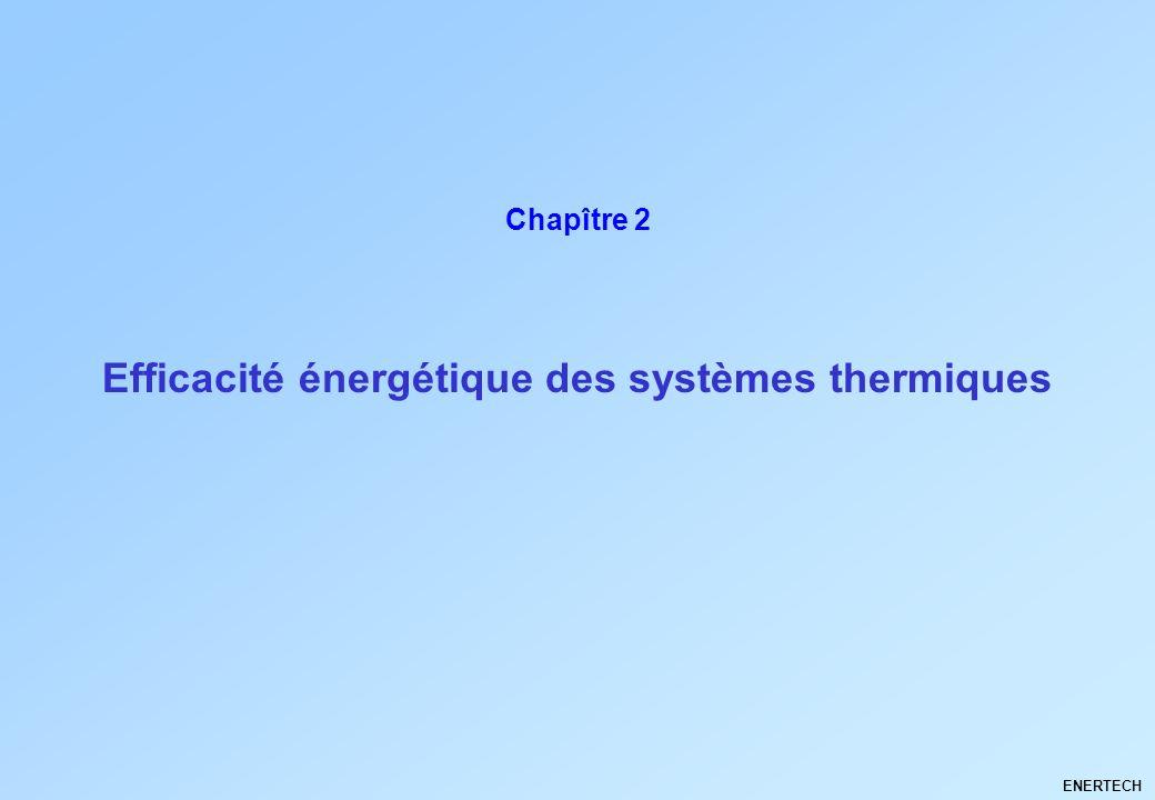 Efficacité énergétique des systèmes thermiques ENERTECH Chapître 2