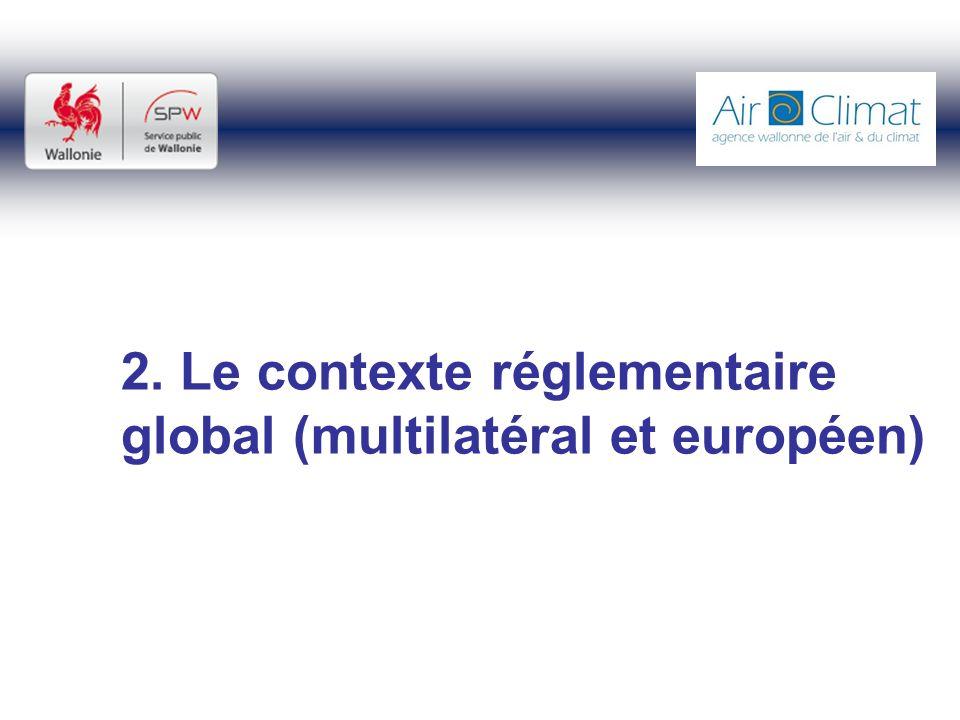 2. Le contexte réglementaire global (multilatéral et européen)