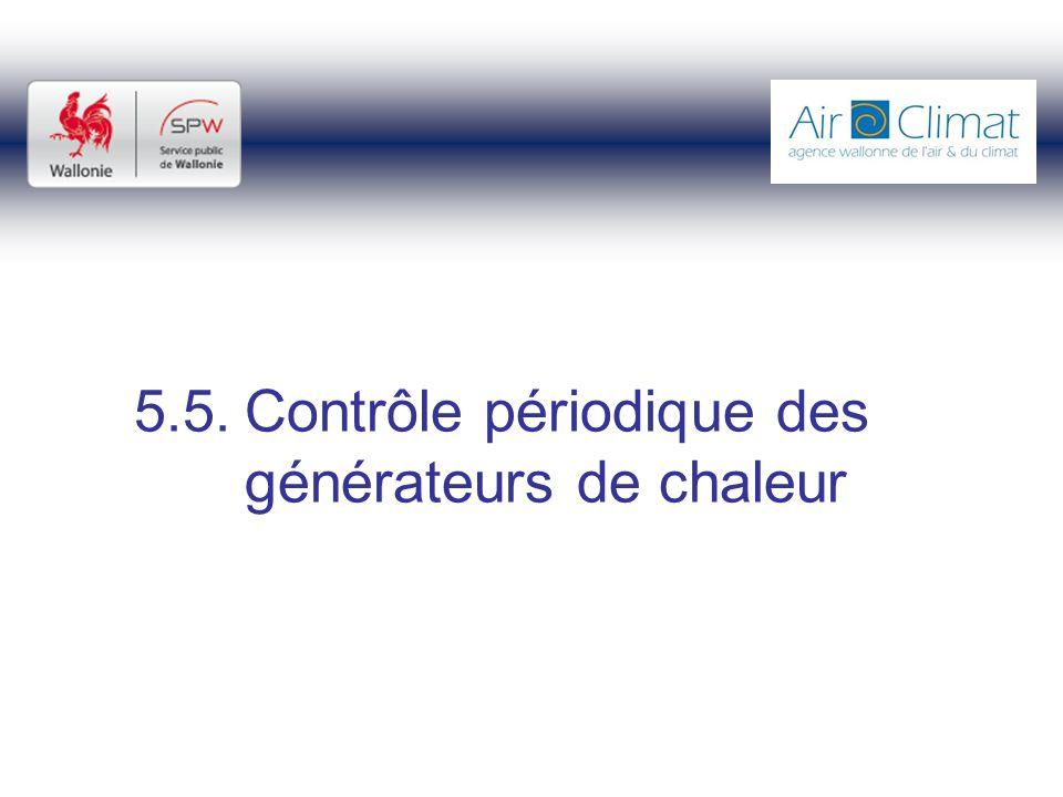 5.5.Contrôle périodique des générateurs de chaleur