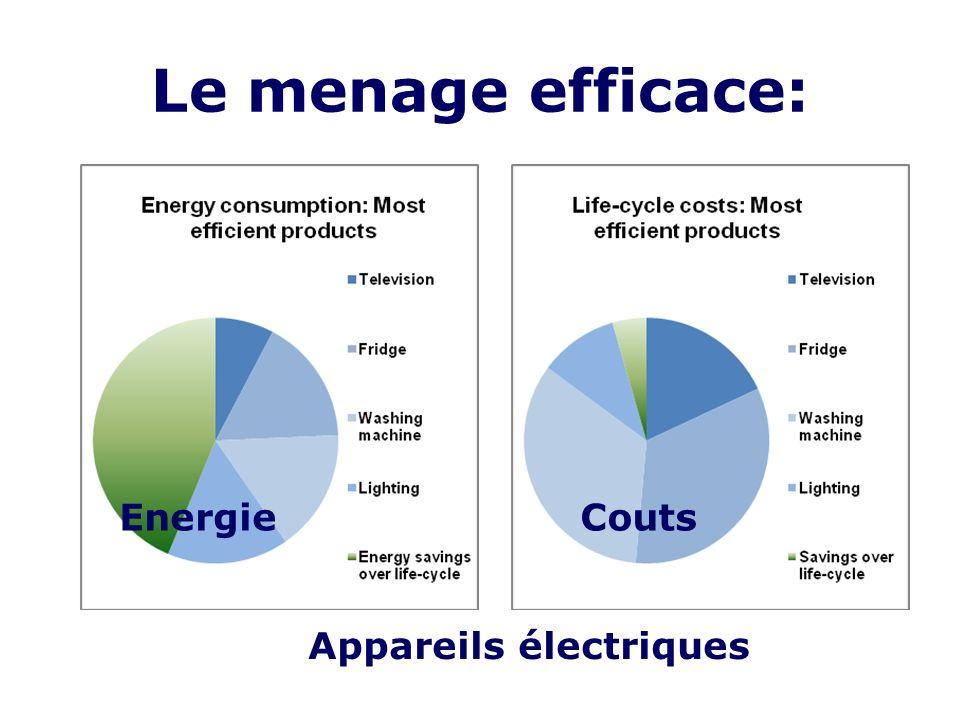 Le menage efficace: EnergieCouts Appareils électriques