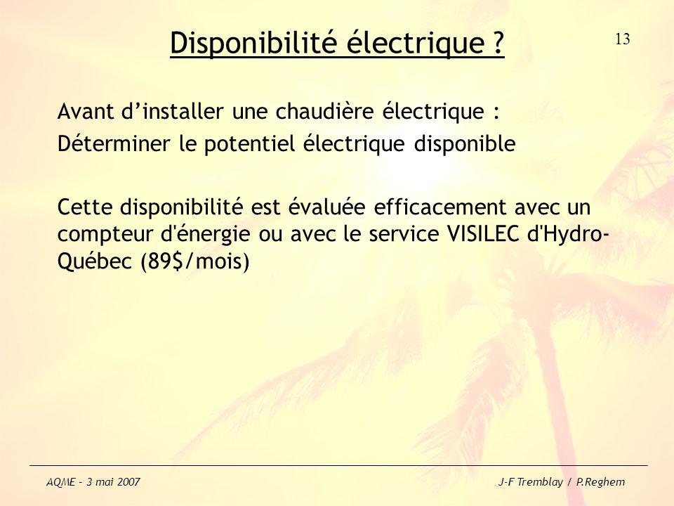 Disponibilité électrique ? Avant dinstaller une chaudière électrique : Déterminer le potentiel électrique disponible Cette disponibilité est évaluée e