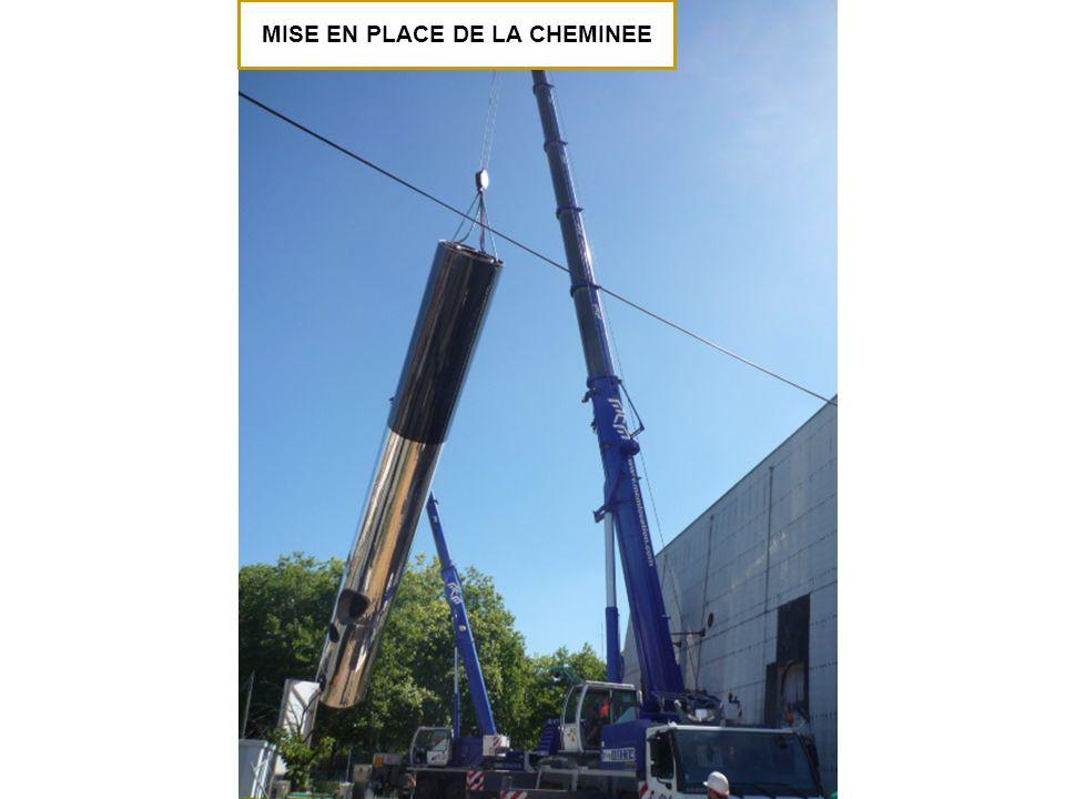 MISE EN PLACE DE LA CHEMINEE