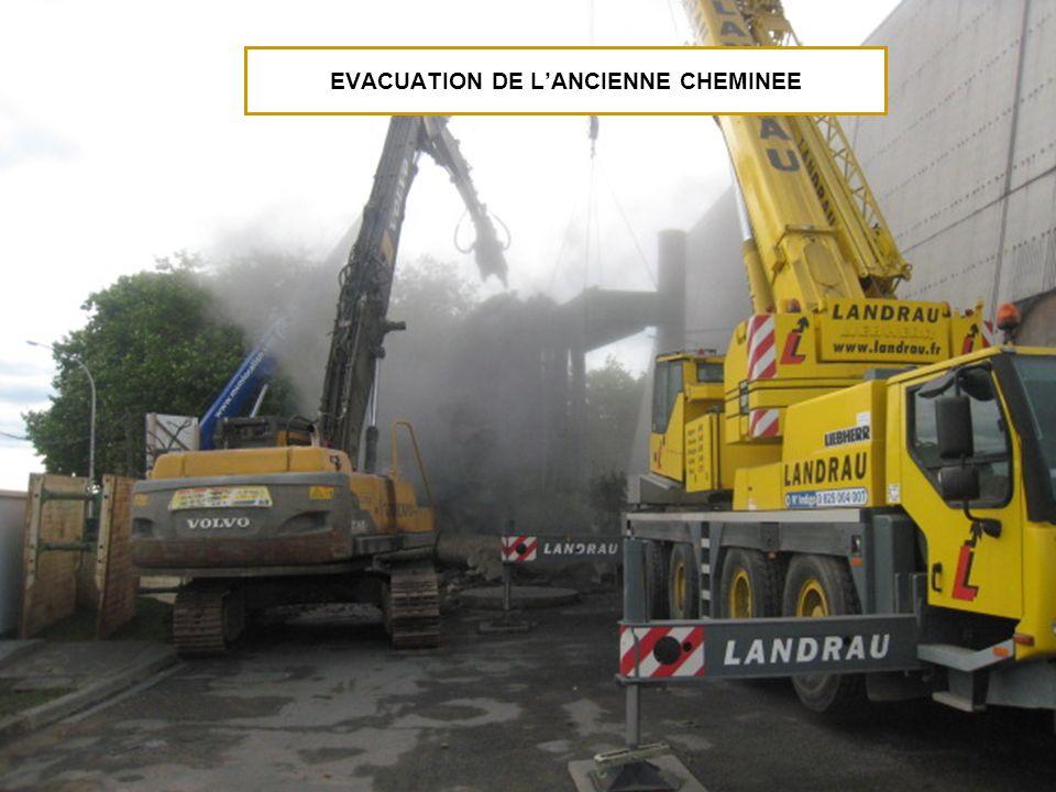 EVACUATION DE LANCIENNE CHEMINEE