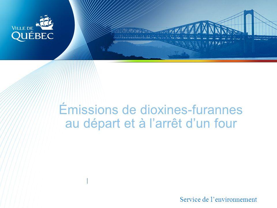 Émissions de dioxines-furannes au départ et à larrêt dun four Service de lenvironnement