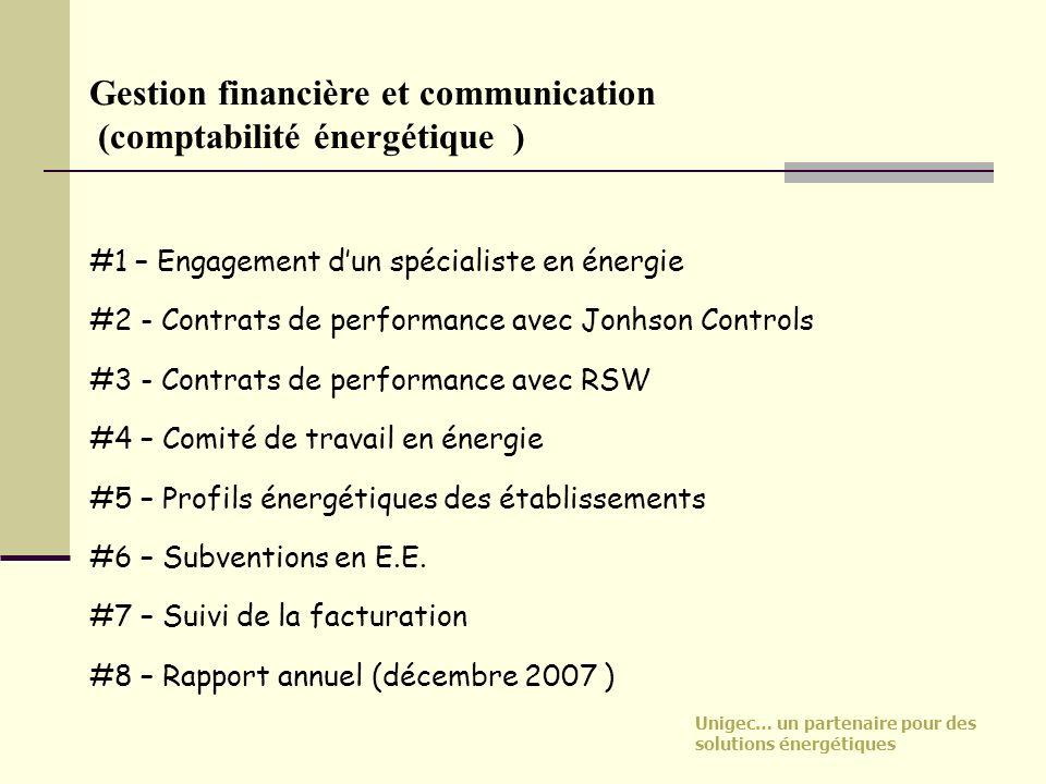 Unigec… un partenaire pour des solutions énergétiques Gestion financière et communication (comptabilité énergétique ) #1 – Engagement dun spécialiste