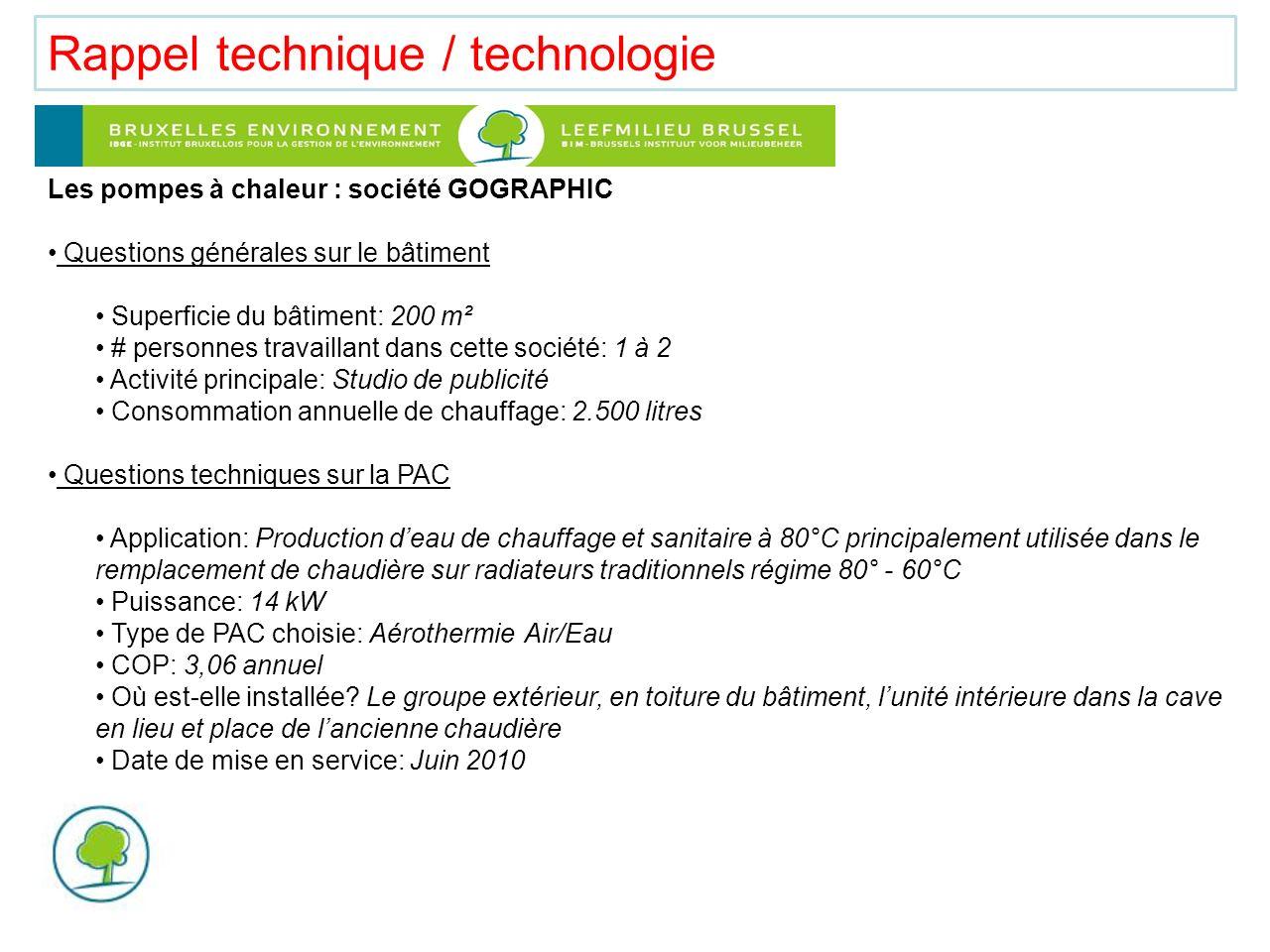 Rappel technique / technologie Bilan économique Coût de linstallation: 11.205 HTVA + 6% Temps de retour sur investissement: 5 à 7ans Bilan environnemental Quelle est lestimation de léconomie de CO² .