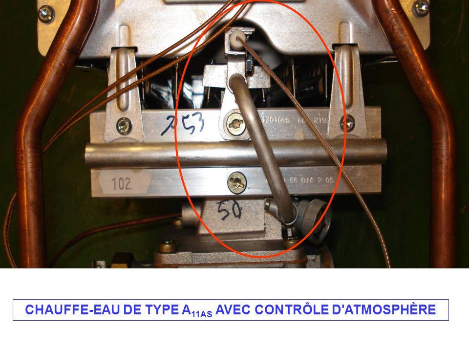 CHAUFFE-EAU DE TYPE A 11AS AVEC CONTRÔLE D ATMOSPHÈRE