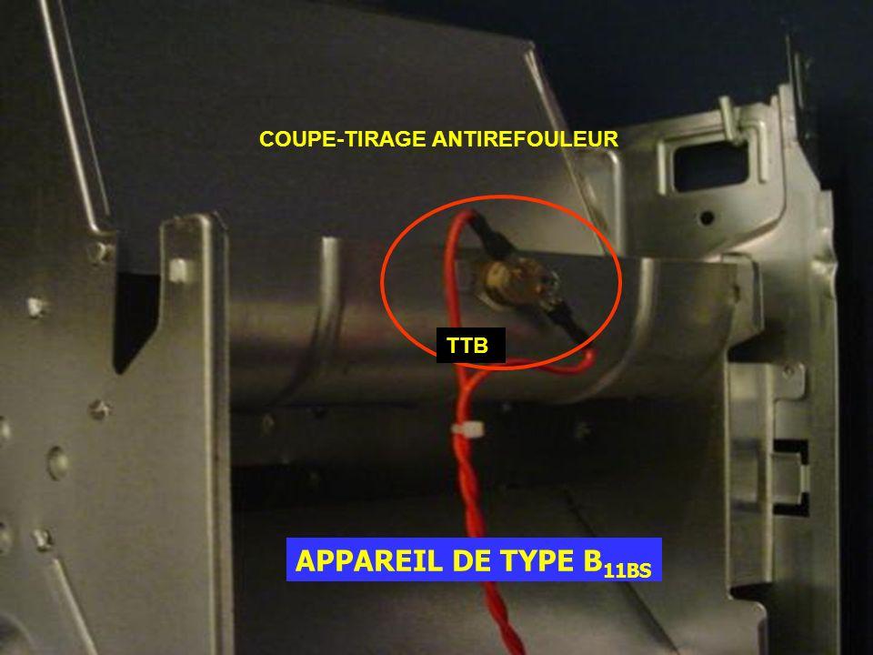 APPAREIL DE TYPE B 11BS COUPE-TIRAGE ANTIREFOULEUR TTB