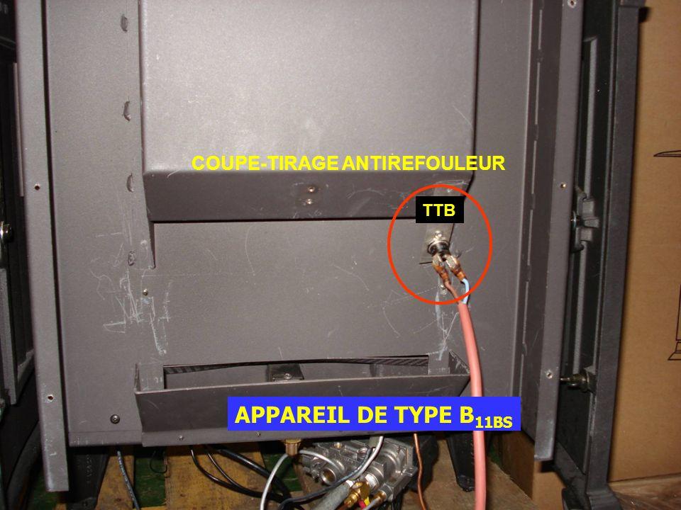 COUPE-TIRAGE ANTIREFOULEUR APPAREIL DE TYPE B 11BS TTB
