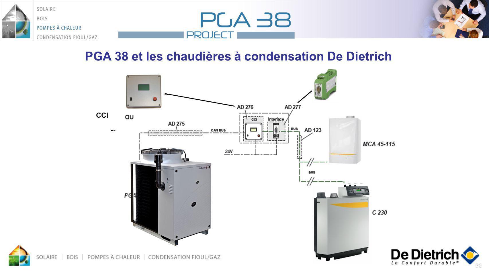 30 PGA 38 et les chaudières à condensation De Dietrich CCI