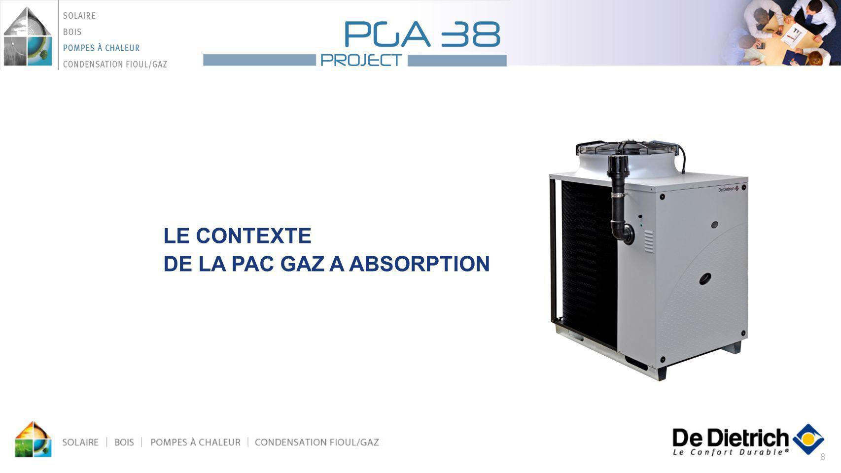 39 Solutions hydrauliques avec PGA 38, chaudières à condensation et système solaire: Principe: PAC en relève de chaudière et production ECS solaire
