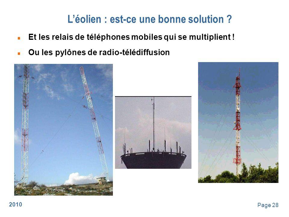 2010 Page 29 Léolien : est-ce une bonne solution .