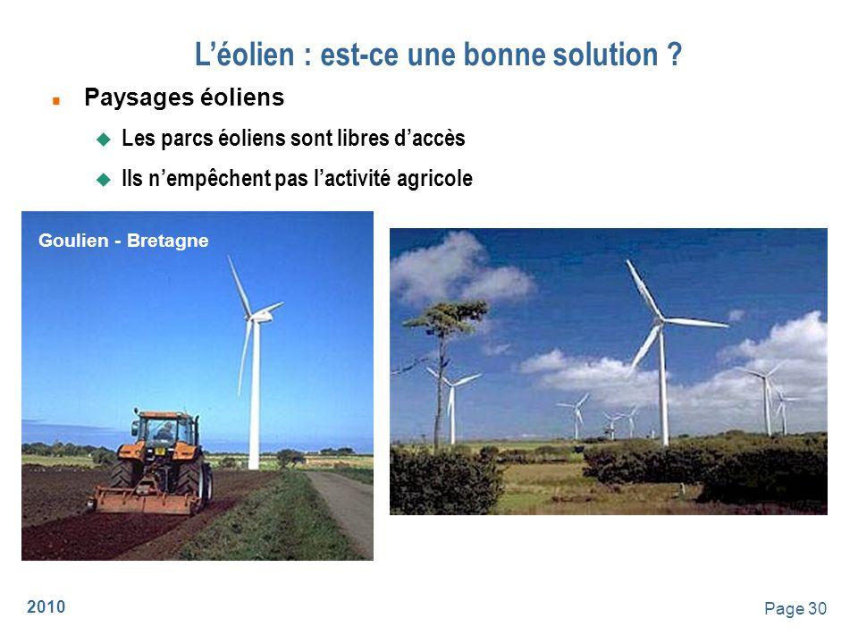 2010 Page 31 Léolien : est-ce une bonne solution .