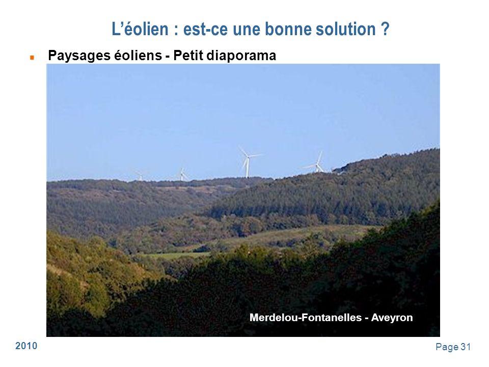 2010 Page 32 Léolien : est-ce une bonne solution ? Merdelou-Fontanelles - Aveyron