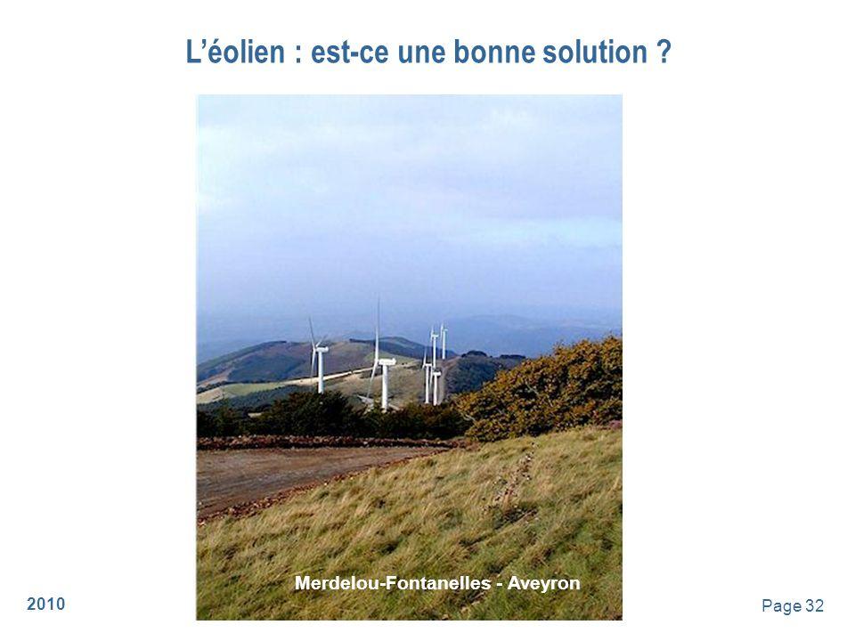 2010 Page 33 Léolien : est-ce une bonne solution .