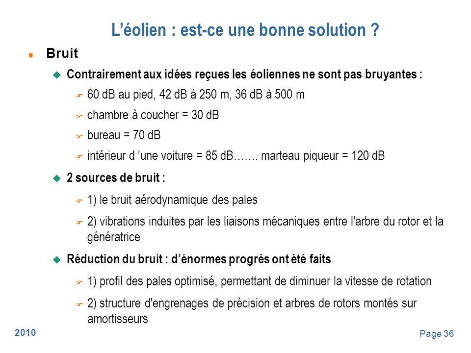 2010 Page 37 Léolien : est-ce une bonne solution .
