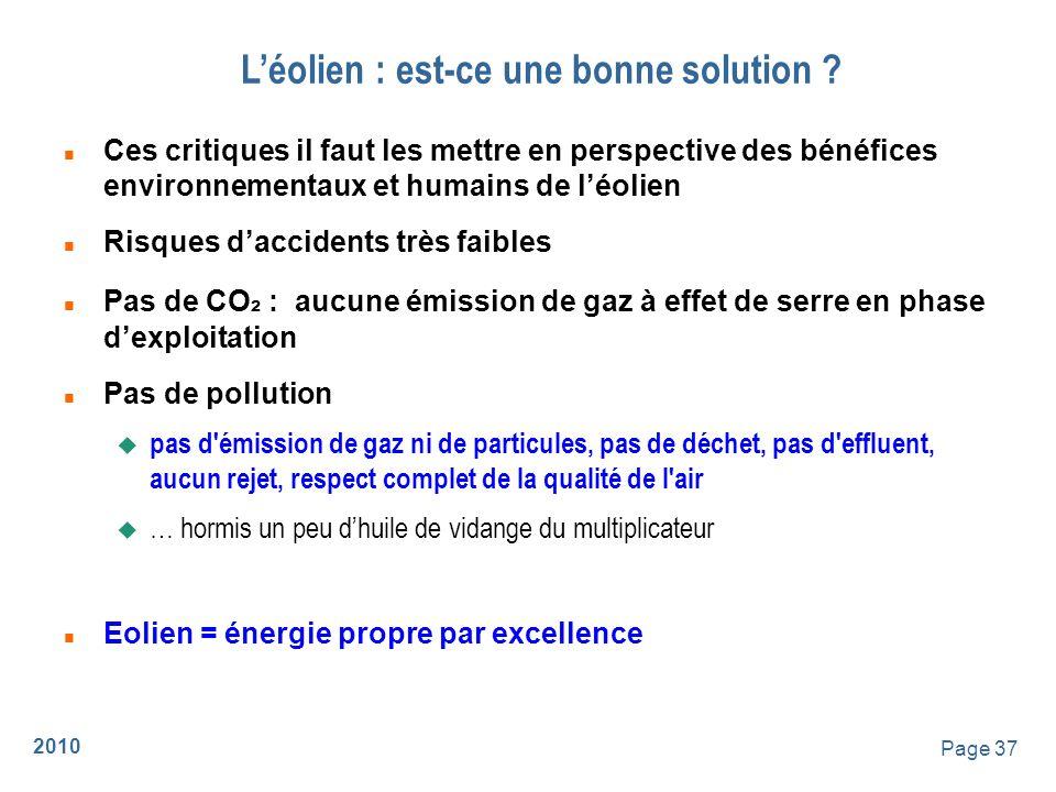2010 Page 38 Léolien : est-ce une bonne solution .