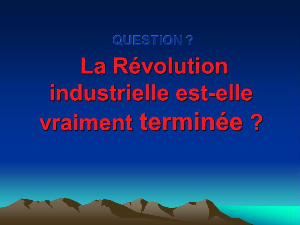 Récapitulons … Les changements technologiques propulsent la Révolution industrielle en Angleterre. Mécanisation du travail dans les principaux secteur