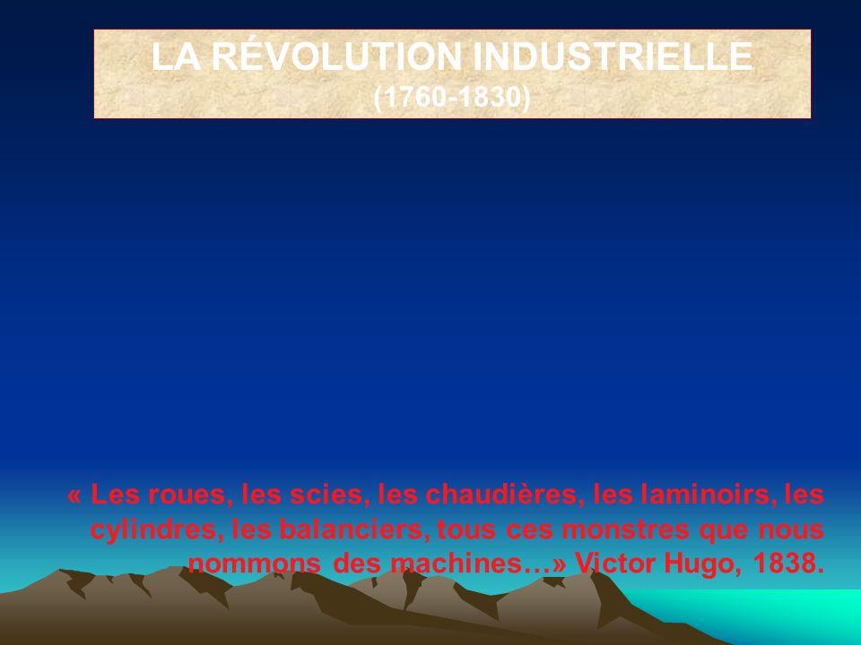 LES PRINCIPAUX CHANGEMENTS TECHNOLOGIQUES DE LA RÉVOLUTION INDUSTRIELLE EN ANGLETERRE 1760-1830